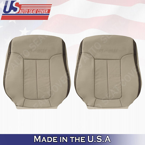 2009 2010 Ford F150 Platinum Driver Passenger Tops Leather Cover Med. Stone Gray