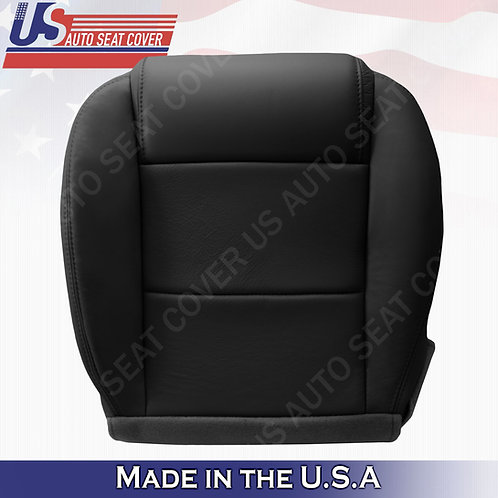2005-2009 Ford Mustang Coupe V6 Passenger bottom leather seat cover Black
