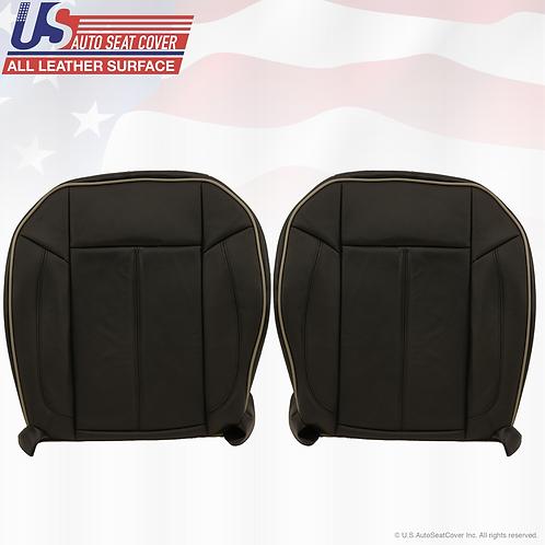 2006-2010 Hummer H3 Driver Passenger Bottom Leather Seat Cover Black