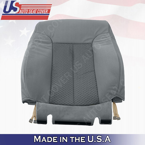For 2011-2014 Ford F150 Passenger Side Top Cloth Seat Cover Steel Gray