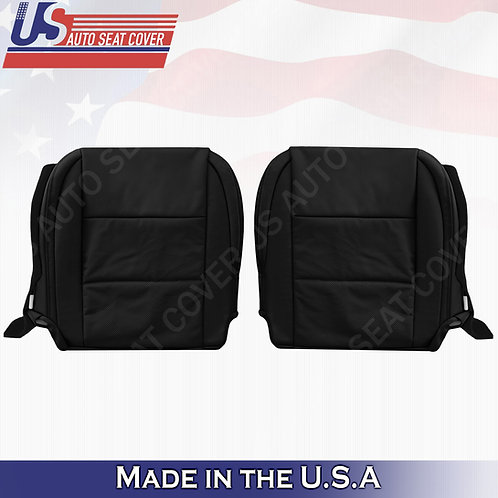 For Driver/Passenger Lexus ES350 Perforated Leather Bottom Seat Cover Black