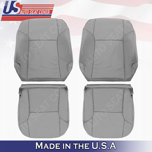 For 2003 -2009 Toyota 4Runner Front Driver & Passenger Leather Cover Gray