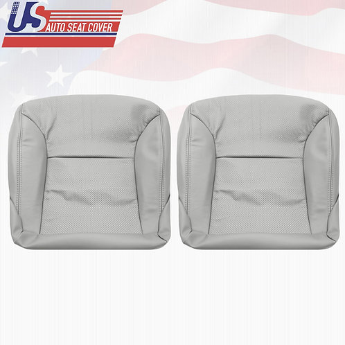 02-06 Lexus ES300 330 Driver&Passenger Bottom Perforated Leather Seat Cover Gray