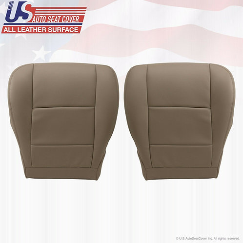 2001-2004 Toyota Sequoia Tundra Driver/Passenger Bottoms Leather Seat Cover Tan