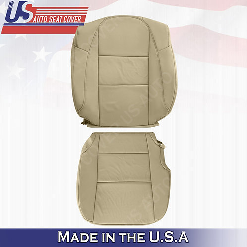 For 2013-2018 Acura RDX Passenger Top/Bottom Perforated Leather Seat Cover Tan