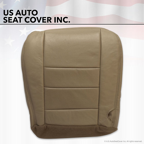 2002 to 07 Ford F250 350 Lariat Driver Bottom Leather Seat Cover TAN Perforated