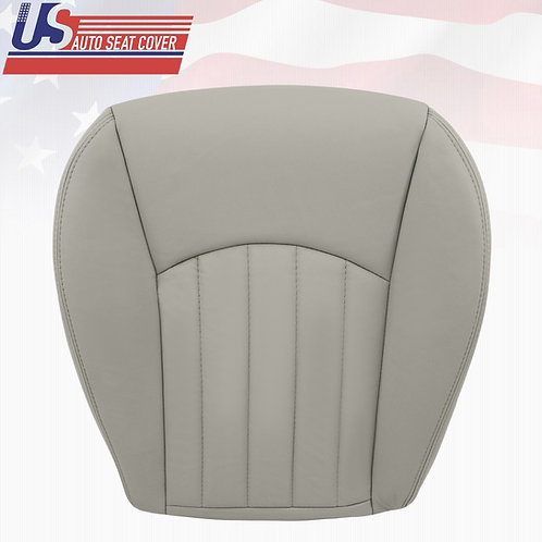 2002-2008 Jaguar X-Type Driver Bottom Leather Seat Cover Gray