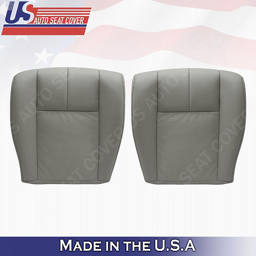 2005-2011 Cadillac STS Driver & Passenger Bottoms Perforated Seat Cover Gray