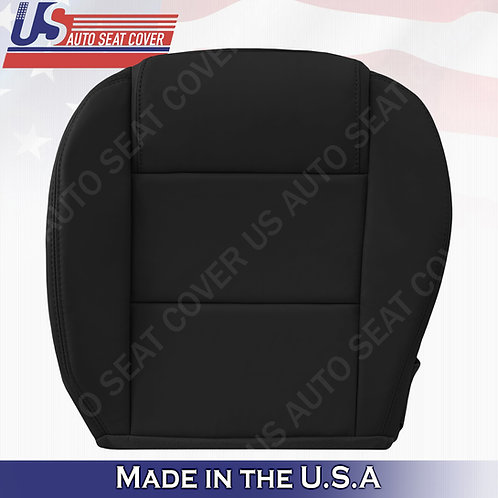 2005-2009 Ford Mustang V6 Driver Bottom Leather Seat Cover in Black