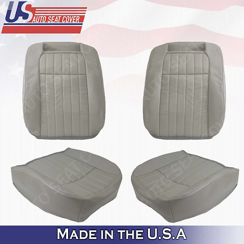 1994 1995 1996 Chevy Impala SS FRONT SET Leather Perforated Seat Cover Gray