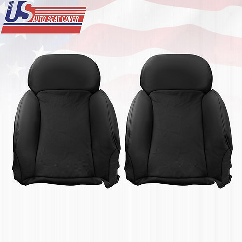 For 2006-2011 Lexus GS350, 350AWD Upper Perforated Leather Seat Cover Black