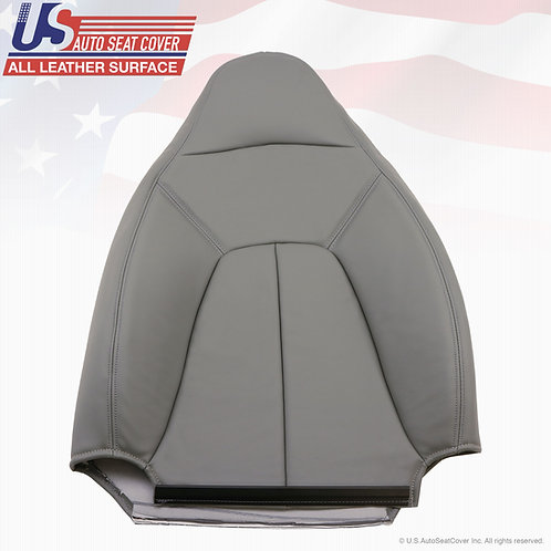 1997-2002 Expedition XLT Driver Lean Back Leather Seat Cover Gray