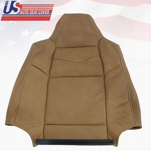2002 to 2007 Ford F250 King Ranch Driver Top Backrest All Leather Seat Cover
