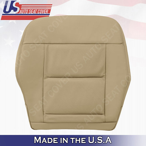 For 2014-2016 Mercedes Benz E350 Driver Bottom Perf. Leather Cover Silk Beige