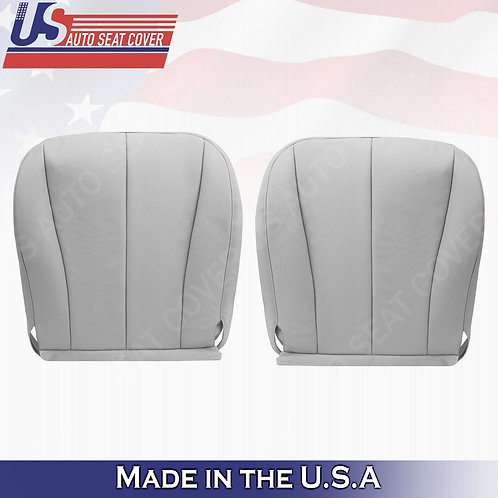 For 2007-2011 Toyota Camry Driver Passenger Bottom Leather Seat Cover Gray