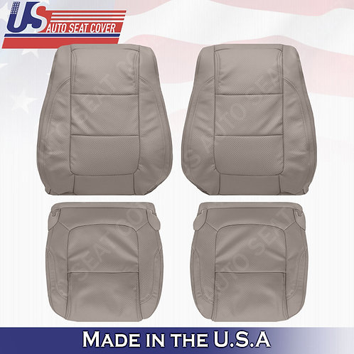 2011 - 2015 Ford Explorer FRONT SET leather Perf.  Seat Cover Stone