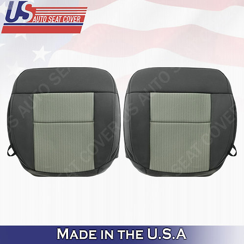 2004-2008 Ford F-150 Driver Passenger Bottom Cloth Seat Cover in 2-tone Gray