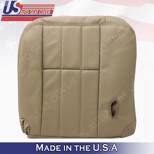 2003 to 2011 Mercury Grand Marquis Driver Bottom Leather Seat Cover Tan