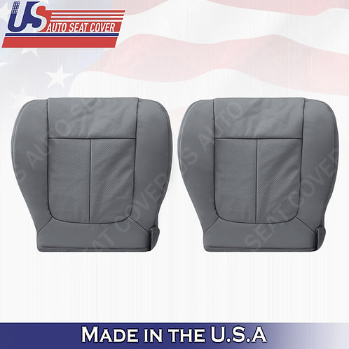 2011 - 2014 Ford F150 Lariat Front Bottom leather Perforated seat cover Gray