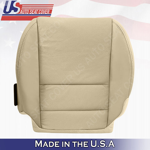 Fits 2007- 2012 Acura MDX DRIVER Bottom PERFORATED LEATHER Seat Cover in Tan
