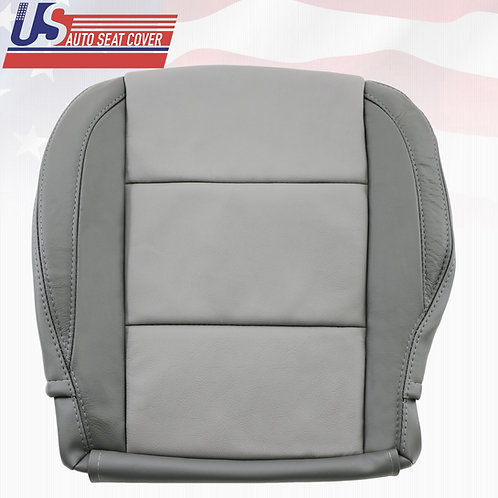 For Nissan Armada DRIVER Bottom Leather seat cover In 2-TONE GRAY