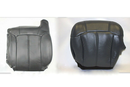 1999-2002 Chevy Tahoe Suburban leather seat cover Top Bottom  Graphite