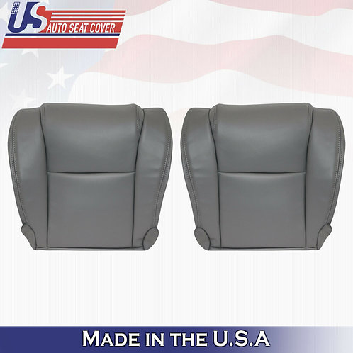 For 2007 to 20013 Toyota Tundra WORK TRUCK Bottoms Vinyl Seat Cover GRAY