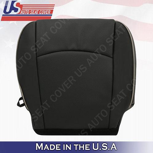 2009-2012 Dodge Ram Laramie Limited Passenger Bottom Leather Cover Dark Gray