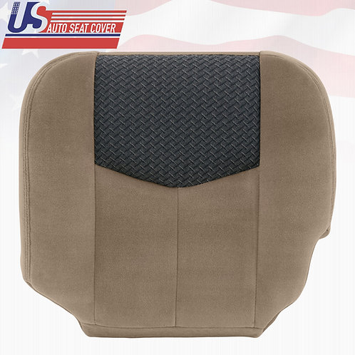 2003 2004 Chevy Avalanche Driver Bottom Replacement Cloth Seat Cover Nuetral Tan