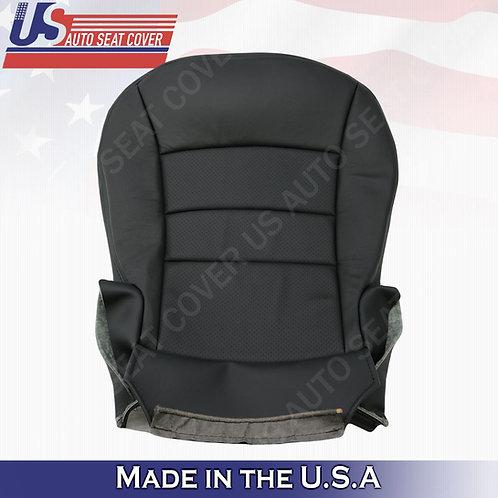 2005 - 2013 Chevy Corvette Driver & Passenger Bottom Perf. Leather Cover BLACK