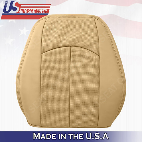 For 2007-2009 Mercedes-Benz E350 Driver Top Perforated Leather Cover Drk Tan