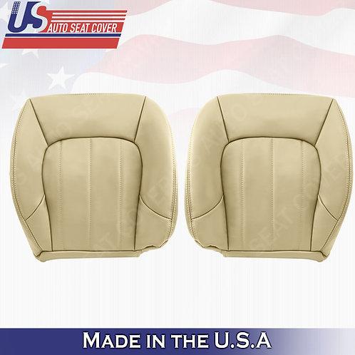 2002-2009 GMC Envoy SLT Driver & Passenger Bottom Leather Seat Cover Oak Tan