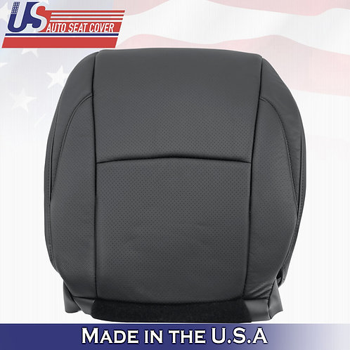 Fits 2007-2012 Lexus ES350 Perforated Leather Driver BOTTOM Seat Cover Black