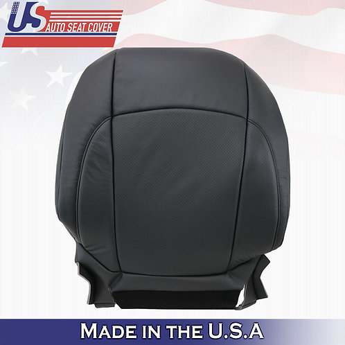 For 2007-2012 Lexus ES350 Passenger Top Perforated Leather Seat Cover Black