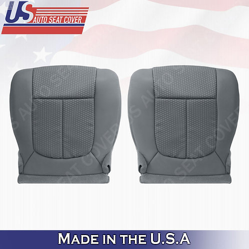 2011-2014 Ford F150 Driver & Passenger Bottom Cloth seat Cover Steel Gray