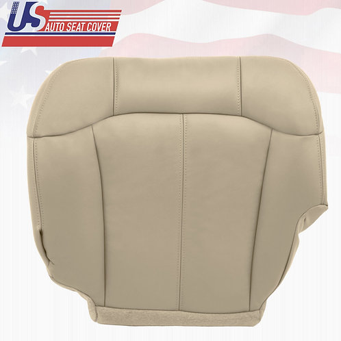 1999-2002 Chevy Tahoe Suburban driver Bottom leather seat cover Shale Tan