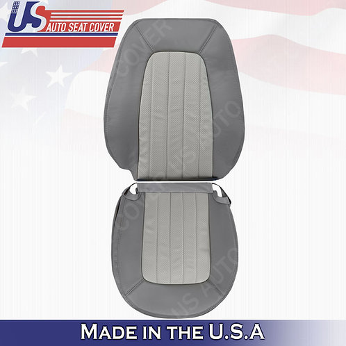 2002 - 2005 Mercury Mountaineer Driver top & bottom Leather Seat 2tone gray