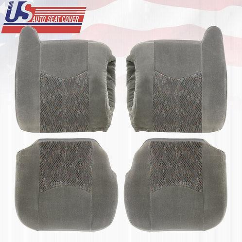 2003 to 2006 Chevy Silverado Front cloth Seat Cover Dark Gray