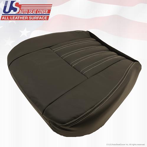 2004-2007 Ford F250 Harley-Davidson Passenger Bottom Leather Seat Cover Black