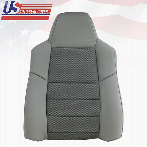 Fits 2003-2005 Ford F250 F350 Driver Top Cloth Seat Cover Med Flint Gray
