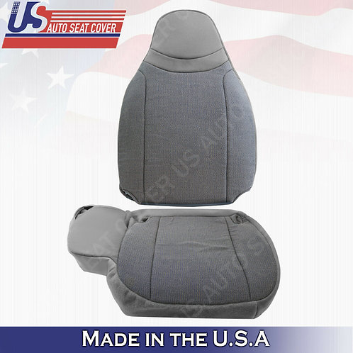 2000 2001 2002 Ford Ranger XL XLT TOP & BOTTOM cloth seat cover Gray