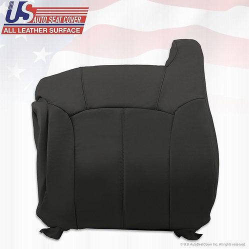 2000 2001 2002 Chevy Silverado Passenger Top Leather Seat Cover graphite