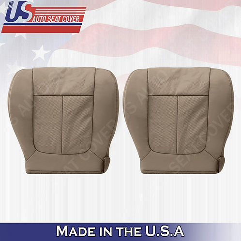 2009 2010 Ford F150 Lariat Front Bottoms Perforated Leather Seat Cover Tan
