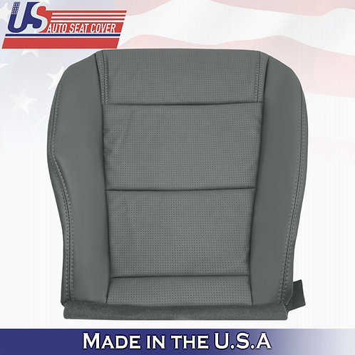 2001-2006 Acura MDX Driver Bottom Perforated Leather Seat Cover GRAY