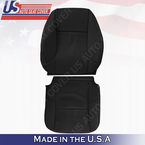 Fits 2010-2017 Lexus GX460 470 Driver Set Perforated Leather Seat Cover Black