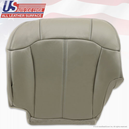 2000 - 2002 Chevy | GMC Driver Bottom Leather Seat Cover Pewter Gray