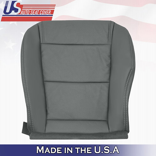 2001-2006 Acura MDX Passenger Bottom Perforated Leather Seat Cover GRAY