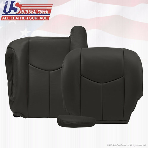 2003 TO 2006 Chevy Avalanche Driver Bottom Top-Armrest Cover Leather Drk Gray