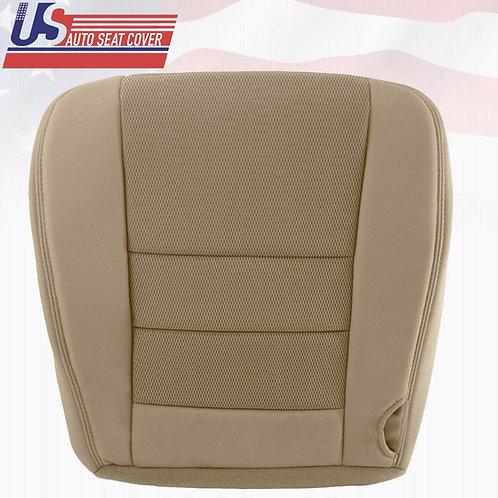 2003-2007 Ford F250 F350 F450 F550 Passenger Bottom Cloth Seat Cover Pebble Tan