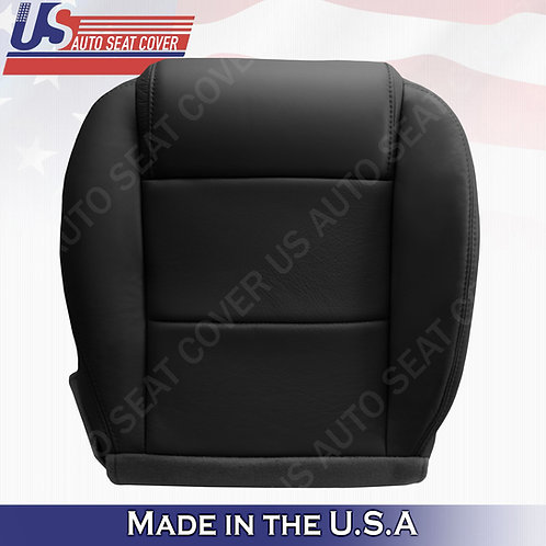 2005-2009 Ford Mustang Coupe V6 Driver  bottom leather seat cover Black
